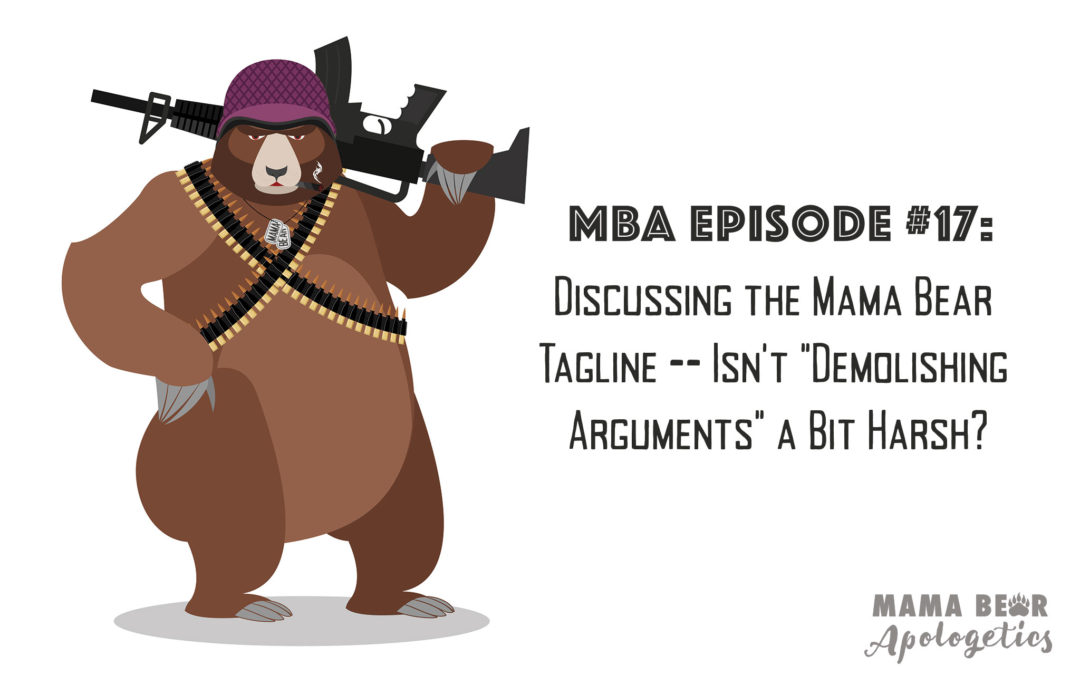 "MBA 17: Discussing the Mama Bear Tagline – Isn't ""Demolishing Arguments"" a Bit Harsh?"