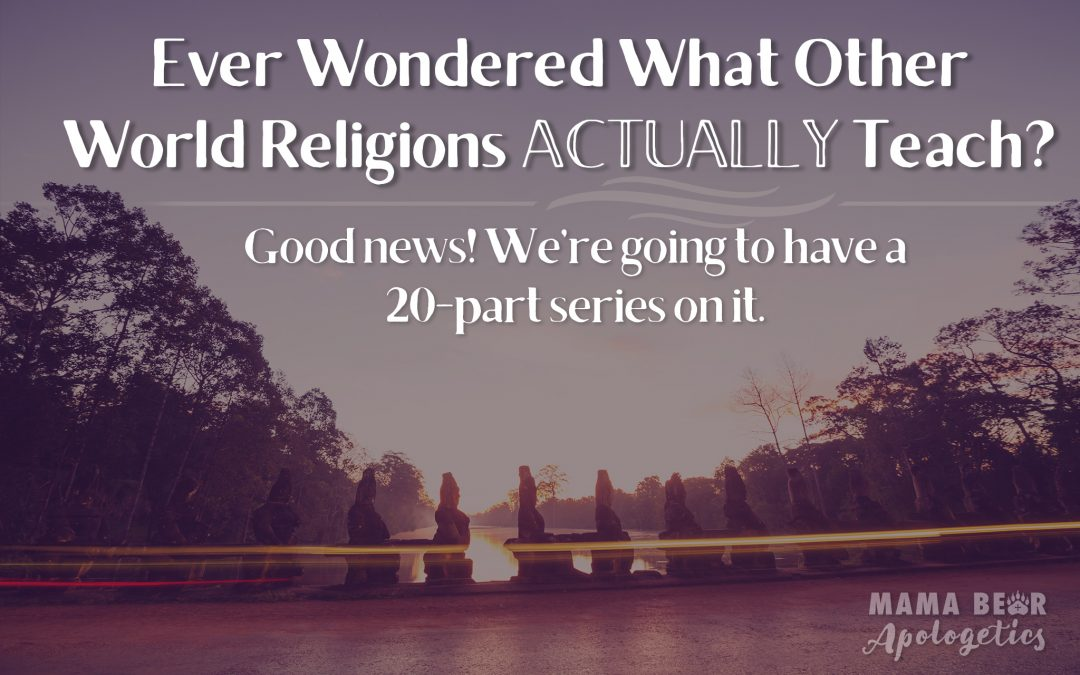 "Ever Wondered, ""What do Other World Religions Actually Teach?"" Good News! We're Going to Have a 20-Part Series on it!"